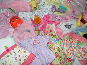 "Big Lot of 25 Pcs Baby Doll Clothes 12 18"" Chou Chou Baby Alive You Me Circo"