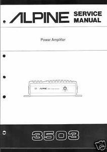 Alpine Original Service Manual Car Amplifier 3503