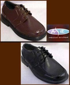 Toddler Boys Brown Black Dress Shoes Sizes 5 6 7 8 9 10