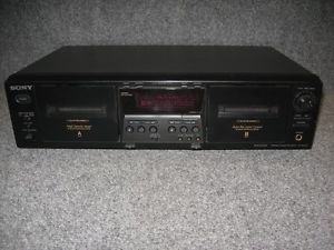Sony Model TC WE475 Home Audio Auto Reverse Dual Cassette Deck Player Recorder