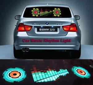 90x25cm Car Sticker Music Rhythm LED Lights Lamp Sound Activated Equalizer Horn