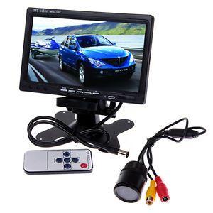 "7"" Car TFT LCD Reverse Mirror Monitor Reverse Car Rear View Backup Camera Kit"