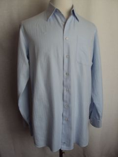 John w  Mens Cotton Baby Blue Dress Shirt Size 16 36