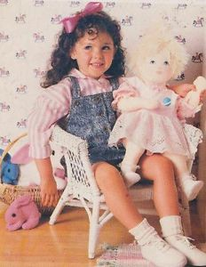 """Vintage Rag Doll Sewing Pattern Clothes 23"""" Baby Doll Rag Doll"""