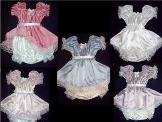 Choice of Color Adult Sissy Baby Lil Girl Style Romper Dress w Snap Crotch