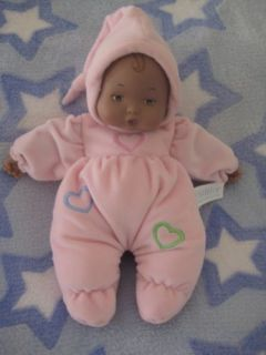 Madame Alexander Soft Baby Doll Pink Hearts Puffy African American AA Black