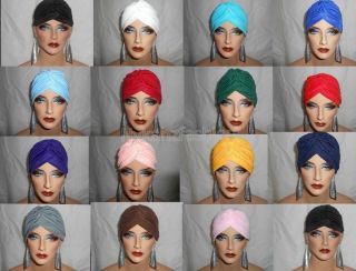 Womens Cancer Chemo Alopecia Hair Loss Turban Headwrap Headband Suncap Hat