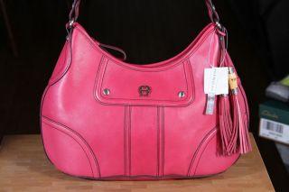 Etienne Aigner Scottsdale Leather Hobo Bag w Zip Closure Bonus Wallet