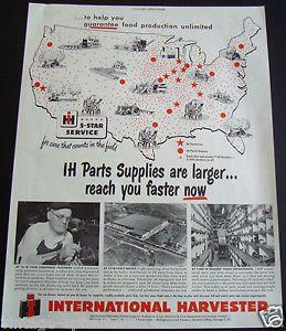 1951 International Harvester Tractor Parts Supplies Dealer Farm Equipment Ad IH