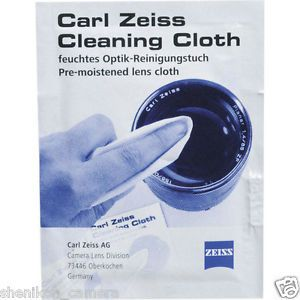 Brand New Carl Zeiss Pre Moistened Lens Cleaning Cloth Wipe Tissue Germany