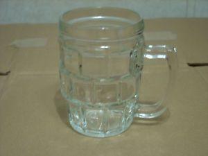 KIG Indonesia Clear Glass Beer Mug Cubed Design Sides