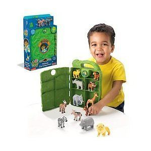 Fisher Price Go Diego Safari Rescue Animal Carrying Case Baboon Hyena Figures