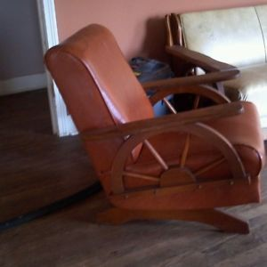 ... Brandt Wagon Wheel Rocking Chair And Wagon Wheel Side Table ...