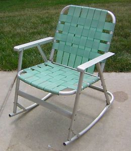 Retro aluminum folding rocking lawn chair rocker 187 home design 2017