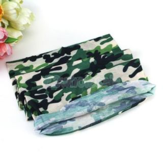 4X Multifunctional Military Camo Headwear Neck Wrap Scarf Turban Face Mask