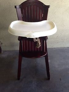 Eddie Bauer Classic Wooden High Chair Used