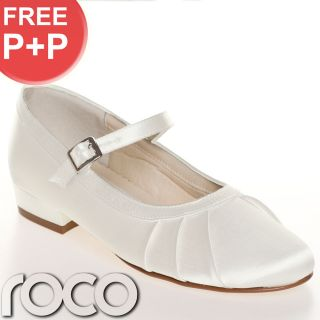 Girls Ivory Shoes Bridesmaid Party Communion Shoe Ladies Wedding Designer Shoes