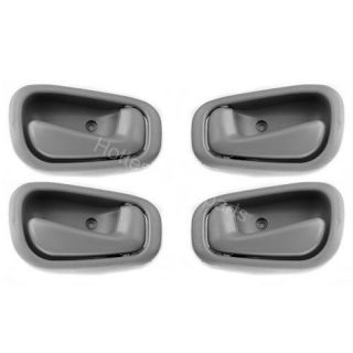 98 99 00 01 02 Toyota Corolla Inside Interior Door Handle Gray Grey Set 4pcs