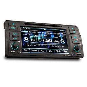 In Dash Car Stereo Radio GPS CD DVD Player iPod Bluetooth RDS F BMW 3 Series E46