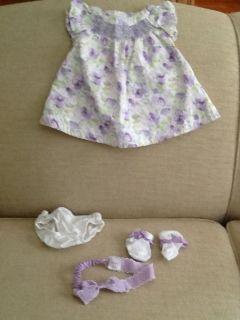 Gymboree Baby Girl Westie Puppy Sweater Dress Cozy Pink