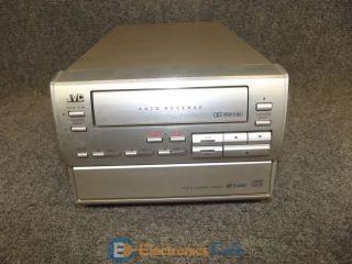 JVC XT TD5 Auto Reverse Cassette Deck 3 Compact Disc Gray Changer Player CA TD5