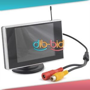 """3 5"""" TFT LCD Car Rearview Color Wireless Monitor DVD"""