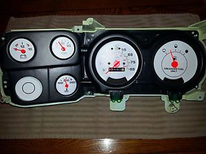 73 87 Chevy Truck Custom White Face Gauges Instrument Cluster