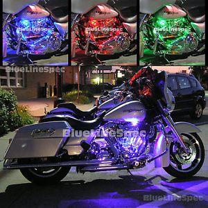 Harley Davidson LED Kit Motorcycle Glow Lights Multi Color Advanced SMD Lighting