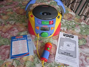 Fisher Price Tuff Stuff Stereo CD Player with Microphone and Sing Along CD