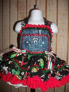 National Pageant Christmas Western Casual Wear OOC OOAK Size 12mo 18mo 24mo