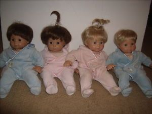 4 American Girl Bitty Baby Twin Dolls Blonde Brunette Clothes Book