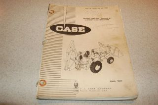 70s Case Loader Backhoe Model 680CK B Equipment Parts Repair Catalog Manual