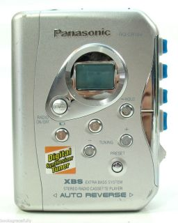 Panasonic RQ CR18V Cassette Player Walkman w Am FM Radio XBS Auto Rev Tested