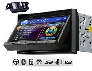"D2208 Double DIN 7"" Car Stereo DVD CD  Player Bluetooth iPod Radio IR Camera"