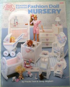 Barbie Fashion Doll Nursery Furniture Plastic Canvas Pattern Booklet