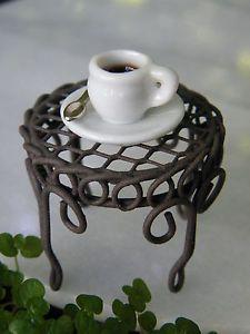Miniature Dollhouse Fairy Garden Accessories Mini Cup of Coffee New