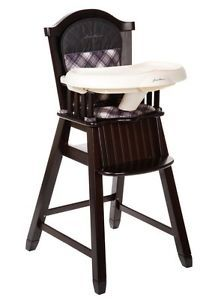 Eddie Bauer Classic Wood Baby Child Toddler High Chair Brooke Open Box