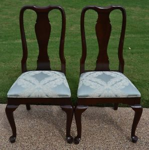 Ethan Allen Georgian Court Dining Side Chairs Two 11 6211 225 Queen Anne