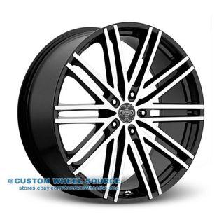 """24"""" Versante 227 Black Wheels Tire Package for Chrysler Chevrolet Dodge Ford"""
