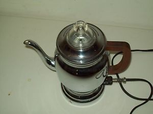 Vintage Electric Percolator Coffee Maker Manning Bowman 1925 Patent Coffee Pot