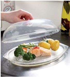 Microwave Steamer Cooker Vegetable Rice Meat Fish Pasta Dish Pot