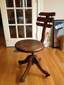 Early Modern Industrial Design Heywood Bros Wakefield Office Desk Chair C 1910