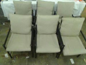 Hampton Bay Barnsley Patio Dining Chairs 6 Chairs Only