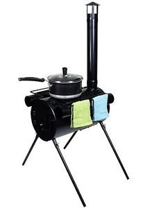 Portable Military Camping Wood Stove Tent Heater Cot Camp Ice Fishing Cooking RV