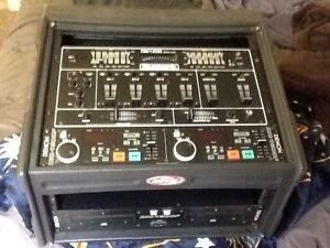 Mobile DJ System Denon 1800 Dual CD Player Numark 1200 Mixer SKB Case