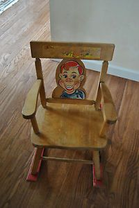 Howdy Doody Vintage Child's Rocking Chair 1950'S