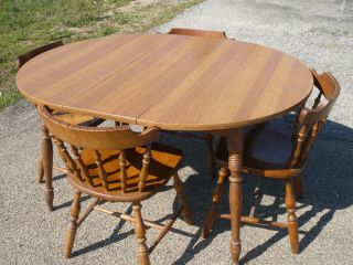 Temple Stuart Rockport Maple Dining Table And 6 Chairs 2