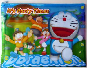 Doraemon LG Document Holder Soft Pouch Zipper Bag A4