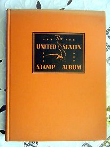 United States Stamp Album 1939 w Many Early Issues Revenue Documentary Stamps