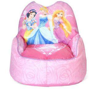 Disney Princess Kids Sofa Bean Bag Chair Toddler Cartoon TV Cinderella